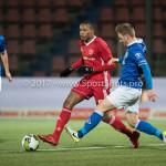 12-01-2018: Voetbal: FC Den Bosch v Almere City FC: Den Bosch (L-R) Arsenio Valpoort (Almere City FC), Jens van Son (FC Den Bosch) Jupiler League 2017 / 2018