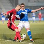 20180112-202647-2x101437a12-01-2018: Voetbal: FC Den Bosch v Almere City FC: Den Bosch (L-R) JSilvester van de Water (Almere City FC),ordy van der Winden (FC Den Bosch), Jupiler League 2017 / 2018