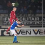 12-01-2018: Voetbal: FC Den Bosch v Almere City FC: Den Bosch (L-R) Kees van Buuren (Almere City FC), Danny Verbeek (FC Den Bosch) Jupiler League 2017 / 2018