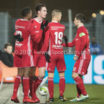 12-01-2018: Voetbal: FC Den Bosch v Almere City FC: Den Bosch (L-R) Arsenio Valpoort (Almere City FC), Dennis van der Heijden (Almere City FC), Silvester van de Water (Almere City FC), Tom Overtoom (Almere City FC) Jupiler League 2017 / 2018