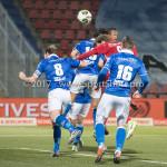 12-01-2018: Voetbal: FC Den Bosch v Almere City FC: Den Bosch (L-R) Nick Vossebelt (FC Den Bosch), Javier Vet (Almere City FC), Jordy van der Winden (FC Den Bosch) Jupiler League 2017 / 2018