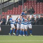 13-01-2018: Voetbal: Jong Almere City v Spakenburg: Almere Spakenburg celebrating 0-1 3de divisie zaterdag 2017 / 2018