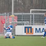 13-01-2018: Voetbal: Jong Almere City v Spakenburg: Almere (L-R) Tom Oostinjen (SV Spakenburg), Kees Tol (SV Spakenburg) 3de divisie zaterdag 2017 / 2018