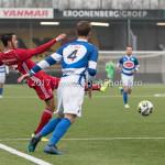 13-01-2018: Voetbal: Jong Almere City v Spakenburg: Almere (L-R) Khalid Tadmine (Jong Almere City FC), Tom van der Neut (SV Spakenburg) 3de divisie zaterdag 2017 / 2018