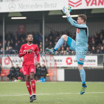 13-01-2018: Voetbal: Jong Almere City v Spakenburg: Almere (L-R) Achille Vaarnold (Jong Almere City FC), Ralph Dua (SV Spakenburg) 3de divisie zaterdag 2017 / 2018
