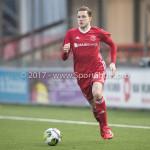 13-01-2018: Voetbal: Jong Almere City v Spakenburg: Almere Nicky van Hilten (Jong Almere City FC) 3de divisie zaterdag 2017 / 2018
