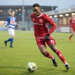 13-01-2018: Voetbal: Jong Almere City v Spakenburg: Almere Achille Vaarnold (Jong Almere City FC) 3de divisie zaterdag 2017 / 2018