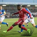 13-01-2018: Voetbal: Jong Almere City v Spakenburg: Almere Kenneth Aninkora (Jong Almere City FC) 3de divisie zaterdag 2017 / 2018