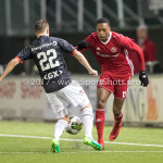 19-01-2018: Voetbal: Almere City FC v NEC: Almere (L-R) Michael Heinloth (NEC), Arsenio Valpoort (Almere City FC) Jupiler League 2017 / 2018