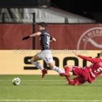 19-01-2018: Voetbal: Almere City FC v NEC: Almere (L-R) Ferdi Kadioglu (NEC), Josef Kvída (Almere City FC) Jupiler League 2017 / 2018