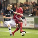 19-01-2018: Voetbal: Almere City FC v NEC: Almere (L-R) Mart Dijkstra (NEC), Arsenio Valpoort (Almere City FC) Jupiler League 2017 / 2018