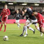 19-01-2018: Voetbal: Almere City FC v NEC: Almere (L-R) Ted van de Pavert (NEC), Jerge Hoefdraad (Almere City FC) Jupiler League 2017 / 2018