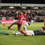 19-01-2018: Voetbal: Almere City FC v NEC: Almere (L-R) goalkeeper Joris Delle (NEC), Jerge Hoefdraad (Almere City FC), Ted van de Pavert (NEC) Jupiler League 2017 / 2018