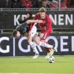 19-01-2018: Voetbal: Almere City FC v NEC: Almere (L-R) Ted van de Pavert (NEC), Javier Vet (Almere City FC) Jupiler League 2017 / 2018
