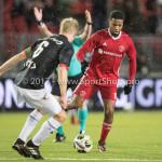 19-01-2018: Voetbal: Almere City FC v NEC: Almere (L-R) Mart Dijkstra (NEC), Jerge Hoefdraad (Almere City FC) Jupiler League 2017 / 2018