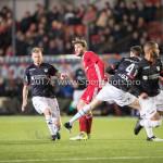 19-01-2018: Voetbal: Almere City FC v NEC: Almere (L-R) Javier Vet (Almere City FC), Ted van de Pavert (NEC) Jupiler League 2017 / 2018