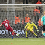 19-01-2018: Voetbal: Almere City FC v NEC: Almere (L-R) Damon Mirani (Almere City FC), goalkeeper Chiel Kramer (Almere City FC) Jupiler League 2017 / 2018