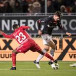 19-01-2018: Voetbal: Almere City FC v NEC: Almere (L-R) Achille Vaarnold (Almere City FC), Ted van de Pavert (NEC) Jupiler League 2017 / 2018