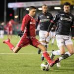 19-01-2018: Voetbal: Almere City FC v NEC: Almere (L-R) Anass Ahannach (Almere City FC), Ted van de Pavert (NEC) Jupiler League 2017 / 2018
