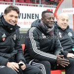 20-01-2018: Voetbal: Almere City FC O17 v De Graafschap O17: Almere (L-R) Jason Oost - Hoofdtrainer (Almere City FC O17), Kofi Mensah - Assistant trainer (Almere City FC O17)