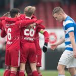 20-01-2018: Voetbal: Almere City FC O17 v De Graafschap O17: Almere (L-R) Jason de Groot (Almere City FC O17), Reinoud van Eijk (Almere City FC O17)
