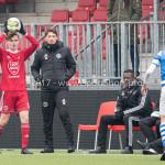 20-01-2018: Voetbal: Almere City FC O17 v De Graafschap O17: Almere (L-R) Julian van der Greft (Almere City FC O17), Jason Oost - Hoofdtrainer (Almere City FC O17)
