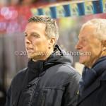 02-02-2018: Voetbal: Almere City FC v FC Dordrecht: Almere (L-R) Gérard de Nooijer - Hoofdtrainer (FC Dordrecht), Jack de Gier - Technisch manager/Hoofdtrainer (Almere City FC) Jupiler League 2017 / 2018