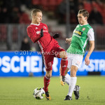 02-02-2018: Voetbal: Almere City FC v FC Dordrecht: Almere (L-R) Silvester van de Water (Almere City FC), Thomas Kok (FC Dordrecht) Jupiler League 2017 / 2018