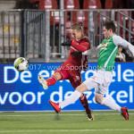 02-02-2018: Voetbal: Almere City FC v FC Dordrecht: Almere (L-R) Silvester van de Water (Almere City FC), Kino Delorge (FC Dordrecht) Jupiler League 2017 / 2018