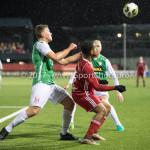 02-02-2018: Voetbal: Almere City FC v FC Dordrecht: Almere (L-R) Julius Bliek (FC Dordrecht), Jerge Hoefdraad (Almere City FC) Jupiler League 2017 / 2018