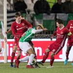 02-02-2018: Voetbal: Almere City FC v FC Dordrecht: Almere (L-R) Josef Kvída (Almere City FC), Tom Overtoom (Almere City FC) Jupiler League 2017 / 2018