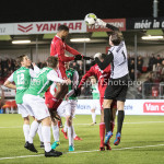 02-02-2018: Voetbal: Almere City FC v FC Dordrecht: Almere (L-R) Jerge Hoefdraad (Almere City FC), Bryan Janssen (FC Dordrecht) Jupiler League 2017 / 2018