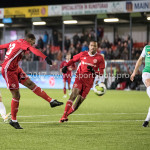 09-02-2018: Voetbal: FC Oss v Almere City FC: Oss Achille Vaarnold (Almere City FC) Jupiler League 2017 / 2018