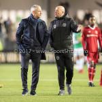 02-02-2018: Voetbal: Almere City FC v FC Dordrecht: Almere (L-R) Jack de Gier - Technisch manager/Hoofdtrainer (Almere City FC), Marco Heering - Assistent trainer (Almere City FC) Jupiler League 2017 / 2018