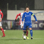 09-02-2018: Voetbal: FC Oss v Almere City FC: Oss Tom Overtoom (Almere City FC) Jupiler League 2017 / 2018