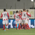 09-02-2018: Voetbal: FC Oss v Almere City FC: Oss FC Oss Celebrating 1-0 Jupiler League 2017 / 2018