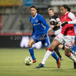 23-02-2018: Voetbal: MVV Maastricht v Almere City FC: Maastricht (L-R) Anass Ahannach (Almere City FC), Shermaine Martina (MVV)` Jupiler League 2017 / 2018
