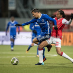 23-02-2018: Voetbal: MVV Maastricht v Almere City FC: Maastricht (L-R) Anass Ahannach (Almere City FC), Shermar Martina (MVV) Jupiler League 2017 / 2018