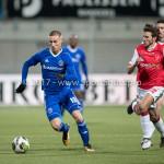 23-02-2018: Voetbal: MVV Maastricht v Almere City FC: Maastricht .(L-R) Silvester van de Water (Almere City FC), Pieter Nys (MVV) Jupiler League 2017 / 2018