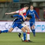 23-02-2018: Voetbal: MVV Maastricht v Almere City FC: Maastricht (L-R) Anass Ahannach (Almere City FC), Luc Mares (MVV) Jupiler League 2017 / 2018