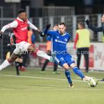 23-02-2018: Voetbal: MVV Maastricht v Almere City FC: Maastricht (L-R) Kelechi Nwakali (MVV), Gaston Salasiwa (Almere City FC) Jupiler League 2017 / 2018