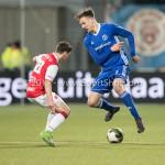 23-02-2018: Voetbal: MVV Maastricht v Almere City FC: Maastricht (L-R)Zev van Melick (MVV), Josef Kvída (Almere City FC) Jupiler League 2017 / 2018