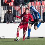 24-02-2018: Voetbal: Jong Almere City v Quick Boys: Almere Nicky van Hilten (Jong Almere City FC) 3de divisie zaterdag 2017 / 2018