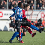 24-02-2018: Voetbal: Jong Almere City v Quick Boys: Almere (L-R) Kelvin Maynard (Quick Boys),