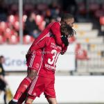24-02-2018: Voetbal: Jong Almere City v Quick Boys: Almere (L-R) Achille Vaarnold (Jong Almere City FC), Mink Peeters (Jong Almere City FC) 3de divisie zaterdag 2017 / 2018