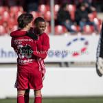 24-02-2018: Voetbal: Jong Almere City v Quick Boys: Almere (L-R) Mink Peeters (Jong Almere City FC), Achille Vaarnold (Jong Almere City FC) 3de divisie zaterdag 2017 / 2018