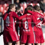 24-02-2018: Voetbal: Jong Almere City v Quick Boys: Almere (L-R) Mitchel Bergkamp (Jong Almere City FC), Jeffrey Rijsdijk (Jong Almere City FC), Julian Nak (Jong Almere City FC) 3de divisie zaterdag 2017 / 2018