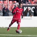 24-02-2018: Voetbal: Jong Almere City v Quick Boys: Almere Mink Peeters (Jong Almere City FC) 3de divisie zaterdag 2017 / 2018