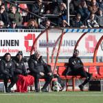 24-02-2018: Voetbal: Jong Almere City v Quick Boys: Almere (L-R) Ivar van Dinteren - Hoofdtrainer (Jong Almere City FC), Jason Oost - assistent Trainer (Jong Almere City FC) 3de divisie zaterdag 2017 / 2018