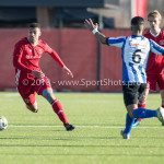 24-02-2018: Voetbal: Jong Almere City v Quick Boys: Almere (L-R) Radinio Balker (Jong Almere City FC), Mohamad Mahmoed (Quick Boys) 3de divisie zaterdag 2017 / 2018